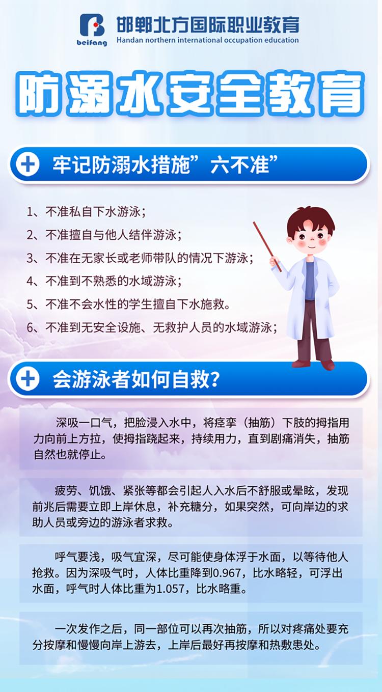 邯鄲北方學校防溺水宣傳